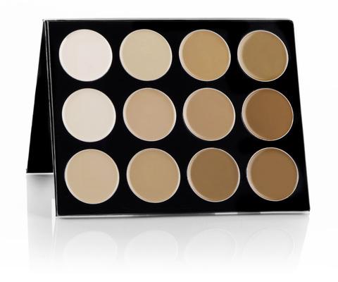 Mehron Палитра тональных основ-корректоров Celebre Pro HD Cream Foundation 12 Color Contour/Highlight Palette, 12 цветов по 6 г