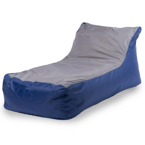 Бескаркасное кресло «Кушетка», Синий и серый