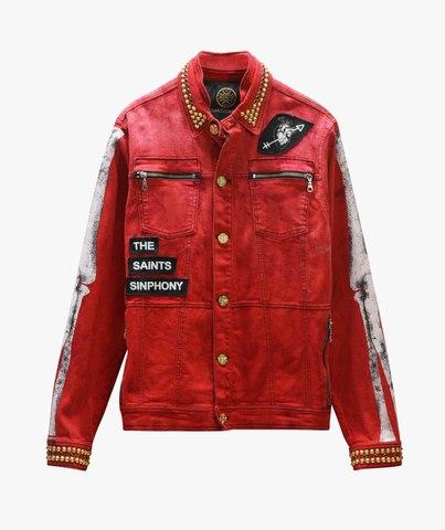 Куртка джинсовая The Saints Sinphony  BONES JACKET RED AND GOLD