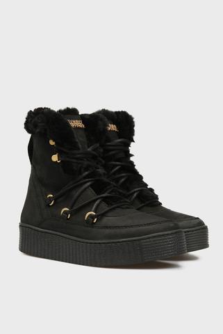 Женские черные ботинки OUTDOORSY TOMMY METALLIC Tommy Hilfiger