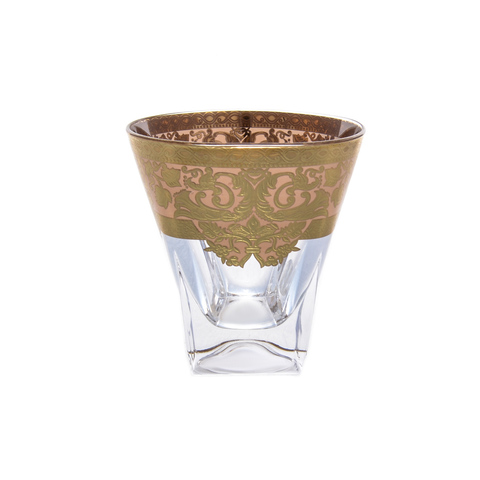 Набор стаканов для виски Astra Gold Natalia Golden Ivory Decor 200мл(6 шт)