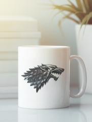 Кружка с рисунком Игра престолов (Game of Thrones) белая 002