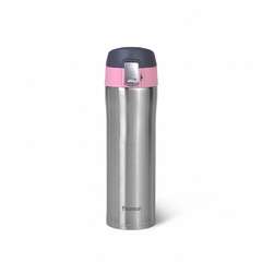9819 FISSMAN Термокружка 420мл, цвет Розовый (нерж.сталь)