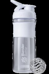 Шейкер-фляга Blender Bottle SportMixer 828мл Clear White