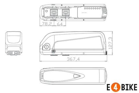 Пластиковый корпус для батареи Hailong 2