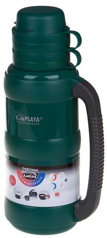 Термос LaPlaya Traditional 35-100 (1 литр) со стеклянной колбой, зеленый