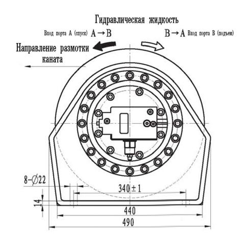 Эвакуационная лебедка IYJ23-50-80-14-ZPN