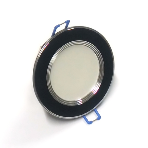Светодиодный Led светильник встраиваемый Feron AL 527 Черный (круглый) 5W 4000K