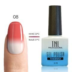 TNL, Термо гель-лак № 08 - розовый/белый, 10 мл