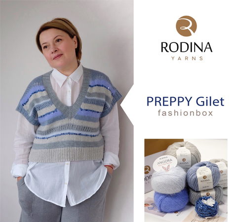 PREPPY Gilet Fashionbox by Rodina Yarns