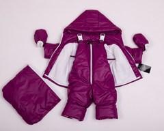 Демисезонный комбинезон тройка для малышей 0-2 года Look бордо