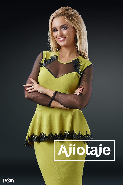 Элегантное платье в пол оливкового цвета