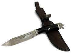 Нож охотничий Волк, кованая сталь Х12МФ, граб