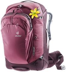 Рюкзак для путешествий женский Deuter Aviant Access Pro 55 SL maron-aubergine
