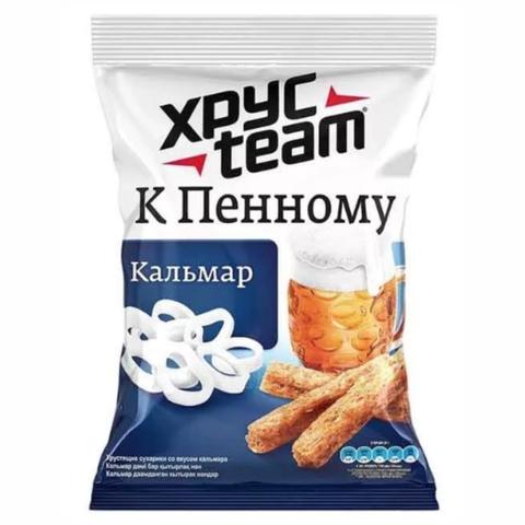 Сухарики XPYCTEAM Stix Кальмар 75 г м/у РОССИЯ