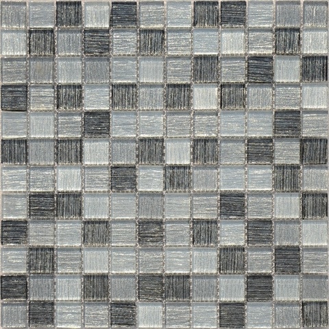 Мозаика  стеклянная Black Tissue 23x23x4  298х298