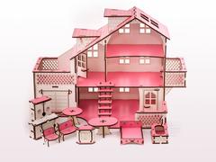 Кукольный дом с гаражем Счастливый ребенок