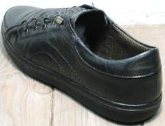 Сникерсы кроссовки мужские полностью черные весна осень Novelty 5235 Black.