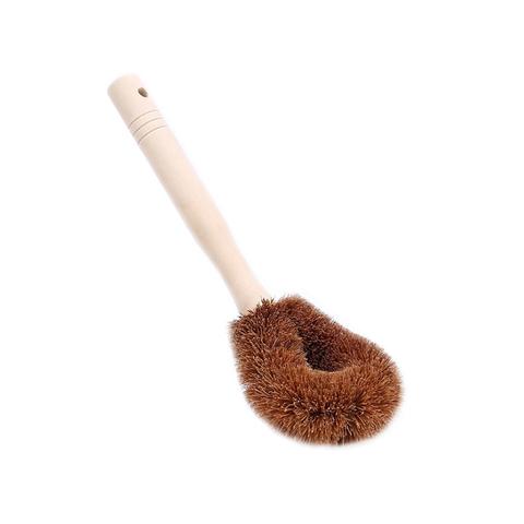Щетка из кокоса с деревянной ручкой для посуды
