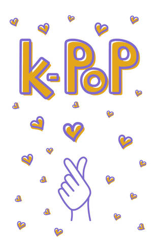 Блокнот KPOP. Твой яркий проводник в корейскую культуру! (формат А5, мягкая обложка, 128 страниц, белый)