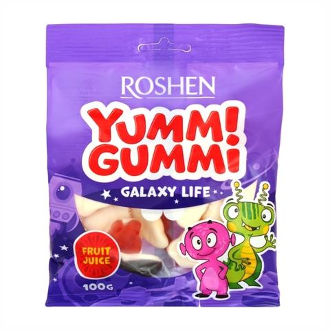 Конфеты ROSHEN Yummi Gummi Galaxy Life желейные 100 г УКРАИНА