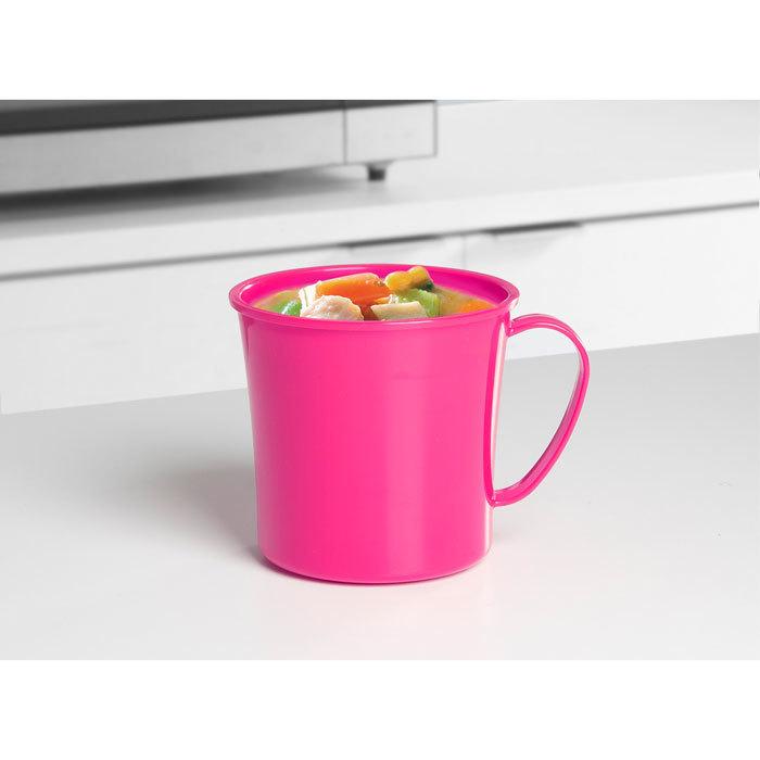 """Кружка суповая для СВЧ Sistema """"Microwave"""" 656 мл, цвет Розовый"""