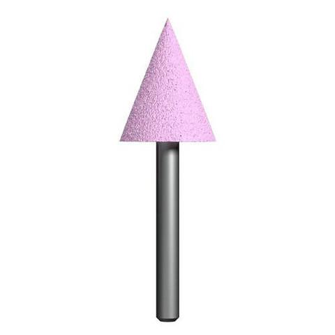 Шарошка абразивная ПРАКТИКА оксид алюминия, коническая 25х32 мм, хвост 6 мм, блистер
