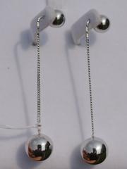 Протяжки с 2 шариками (серьги из серебра)