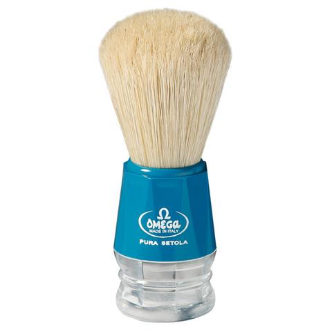 Помазок для бритья Omega натуральный кабан синий 10018