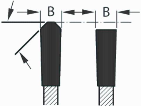 Пильный диск с плоскими трапецеидальными зубьями Сталь