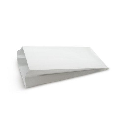Бумажный пакет с плоским дном, 170*70*250 мм, белый