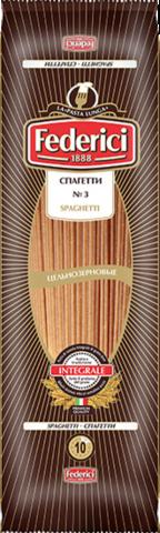 Federici Макароны Спагетти №3 цельнозерновые, 400 г