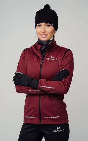 Разминочная куртка Nordski Pro wine W женская