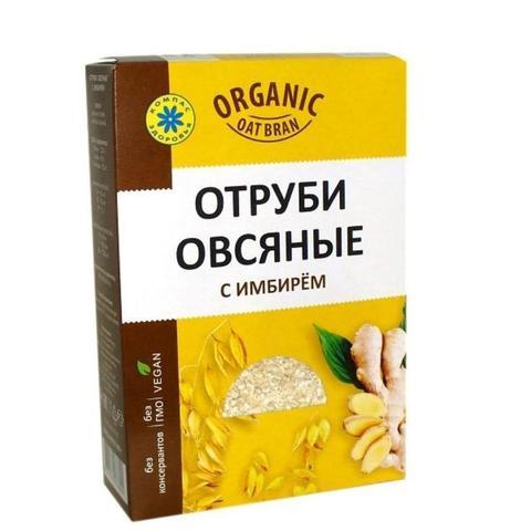 Отруби Овсяные с имбирем 0,2кг (Компас здоровья)