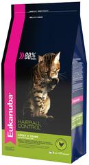Корм для взрослых кошек, Eukanuba Cat Hairball, для вывода шерсти из желудка с домашней птицей