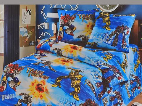 Комплект постельного белья Трансформеры Бязь 150см ХИТ