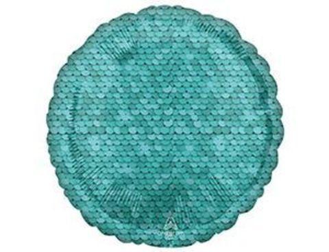 Фольгированный шар  Пайетки Ocean Blue