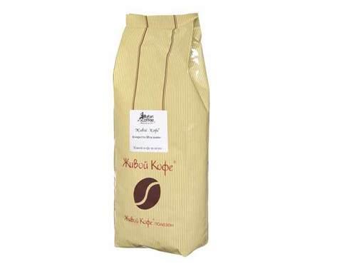 Кофе в зернах ароматизированный Живой Кофе Амаретто, 1 кг