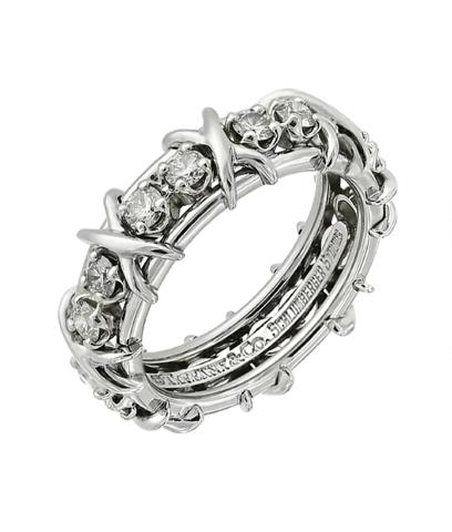 Кольцо-дорожка Lynn из серебра c цирконами