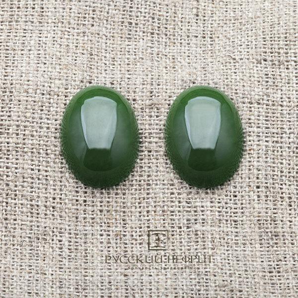 Кабошоны Кабошон овальный 20 х 15мм. Зелёный нефрит (бриле). kab_zel20x15x7_brile.jpg