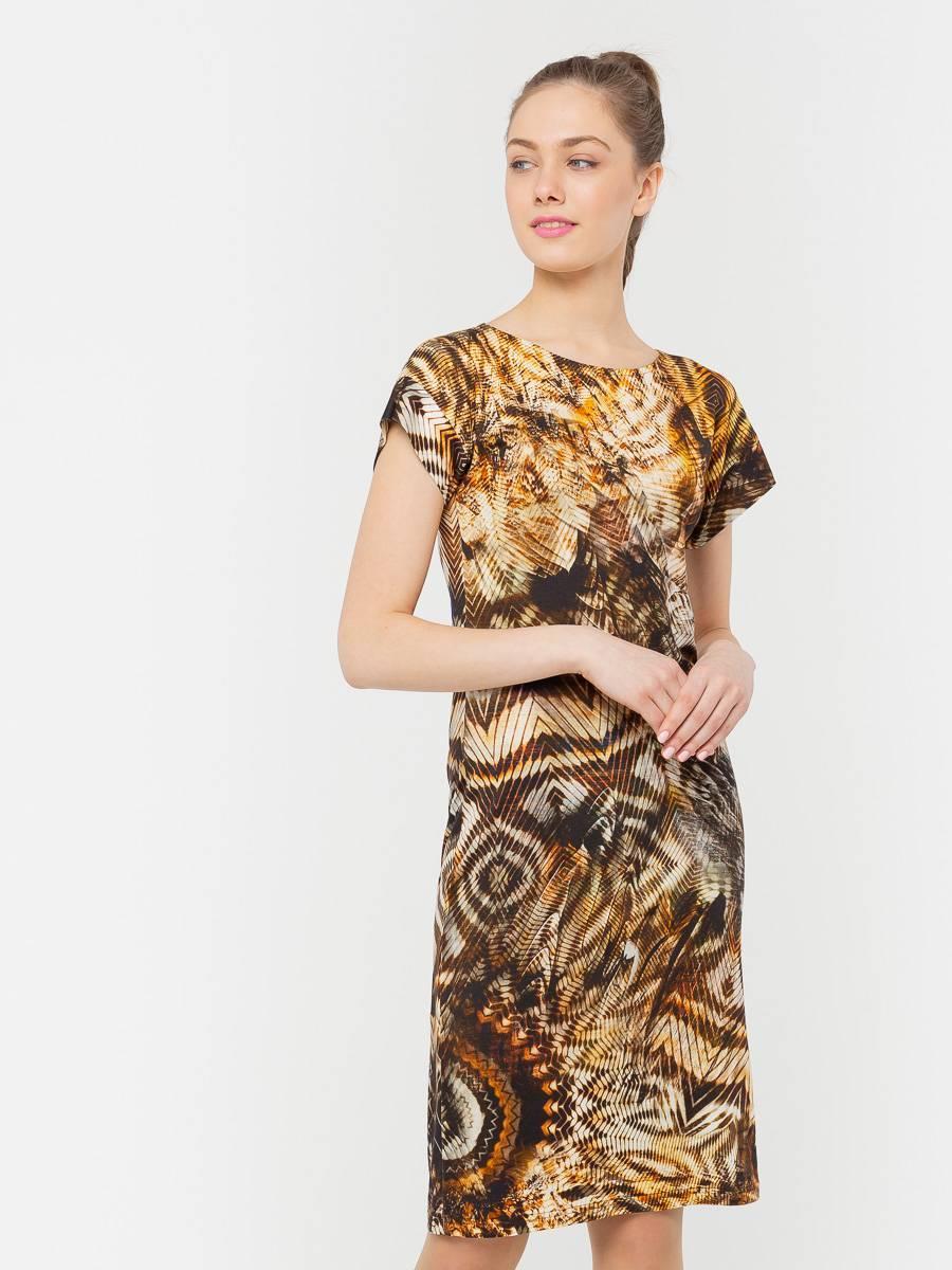 Платье З205-219 - Трикотажное платье облегающего силуэта и цельнокроеным рукавом. Приятная на ощупь, комфортная ткань для повседневной носки. Эта модель станет неотъемлемой частью летнего, повседневного гардероба.