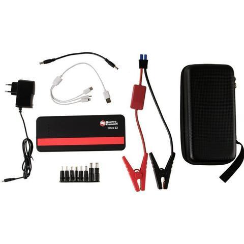 Пусковое устройство QUATTRO ELEMENTI Nitro 22  (12В, 22000 мАч, 700 А,  USB, LCD -  фонарь (790-342)
