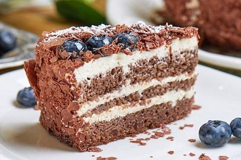 Черемуховый торт без глютена с черникой