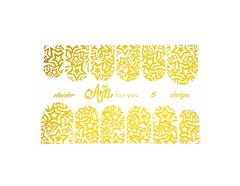 Фольга для дизайна ногтей цвет золото 6