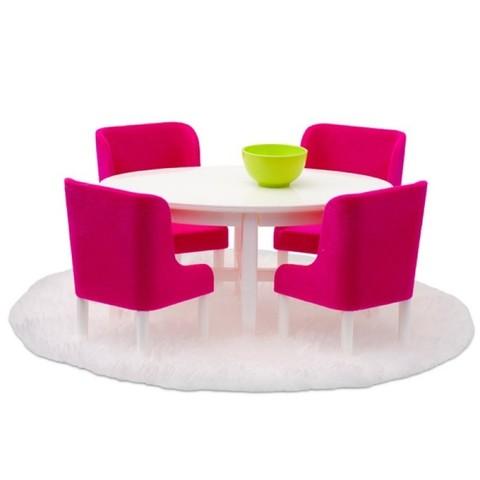 Набор мебели для домика Смоланд Обеденная группа в малиновых тонах