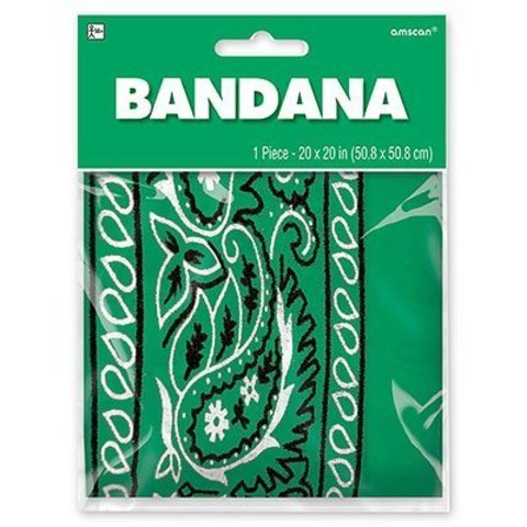 Бандана с рис зеленая 50х50см/А
