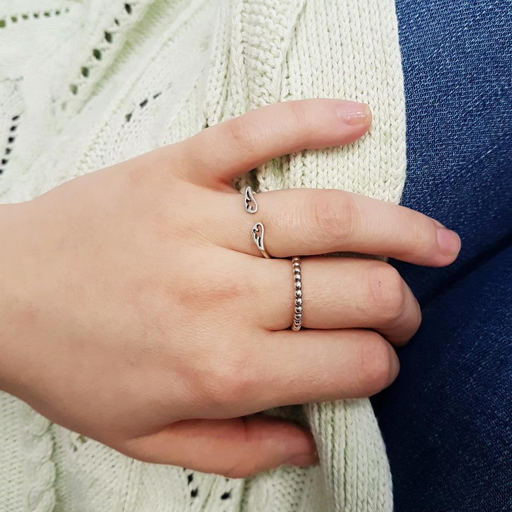 Angel wings ring, Sterling Silver