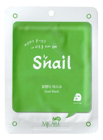 Mijin CARE Маска тканевая с муцином улитки Snail Mask, 1 шт