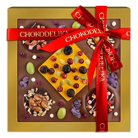 Шоколад с украшением Кватро Вес 220 г