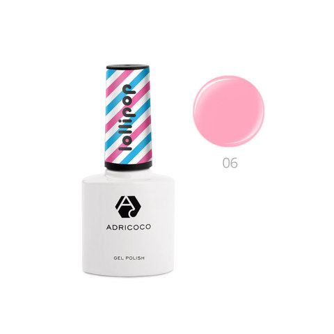 Гель-лак ADRICOCO Lollipop №06 - Сладкая вата (8 мл.)